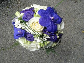 Bouquet bleu mariage